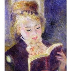 Girl Reading, Pierre Auguste Renoir, 1841-1919