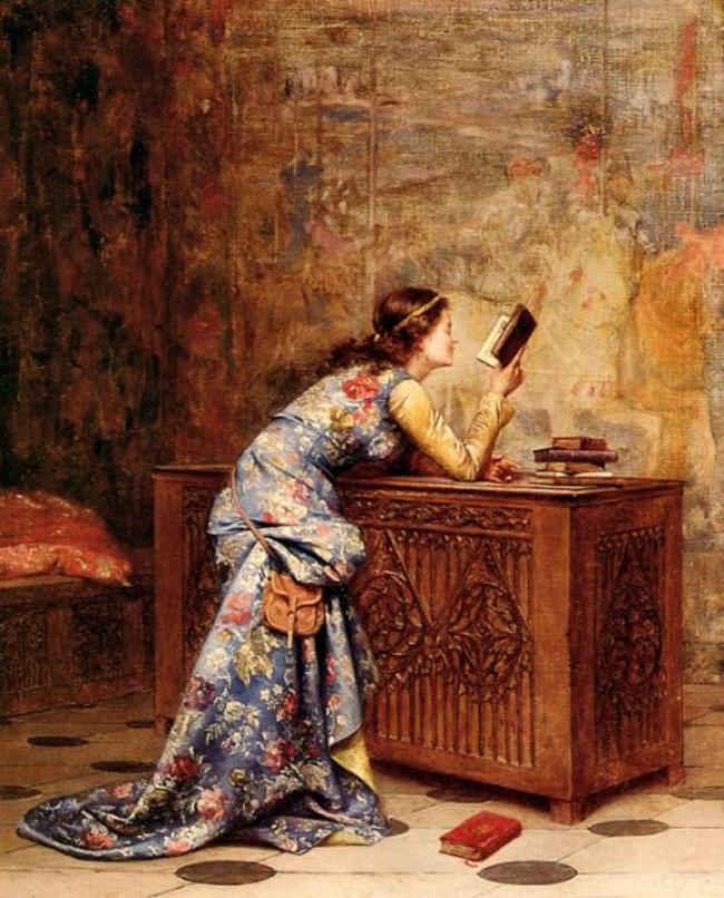 Captivated, Adolphe Alexandre Lesrel,1875