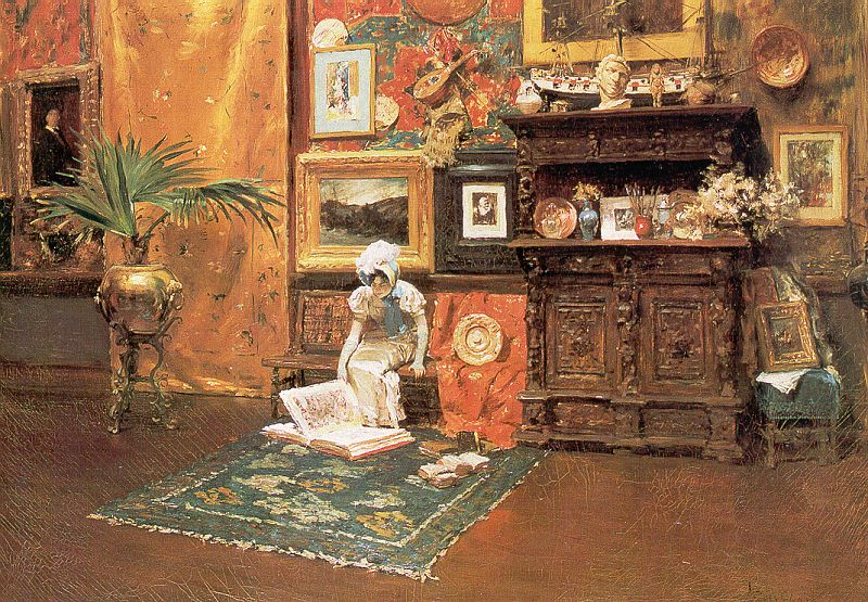 William Merritt  Chase In the Studio 1882