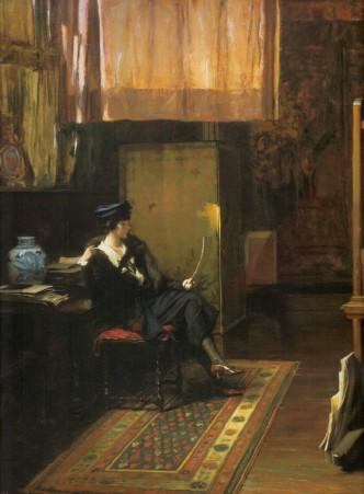 the visitor 1925 by Ignaz Marcel Gaugengigl