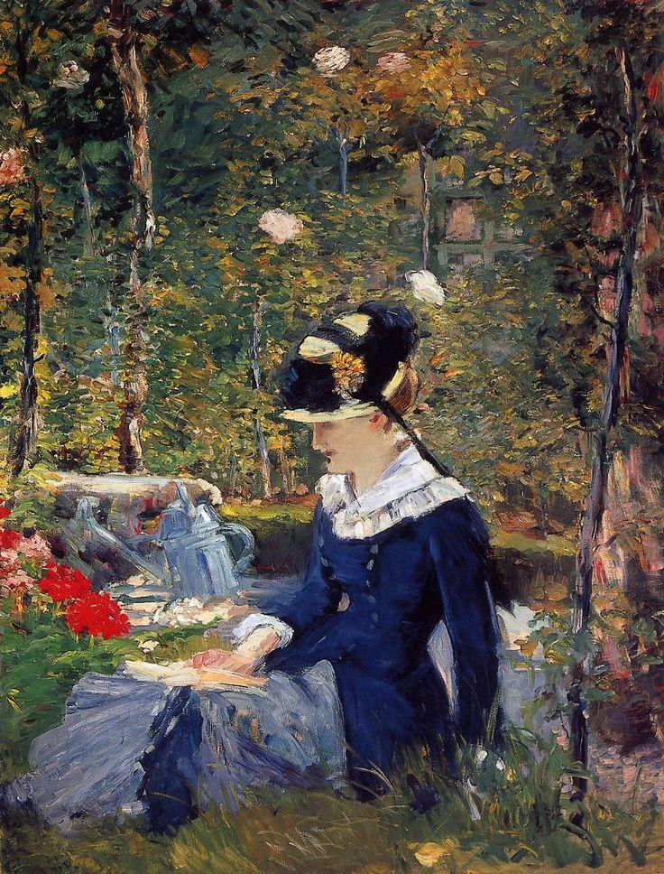Edouard Manet jeine femme dans le jardin 1880