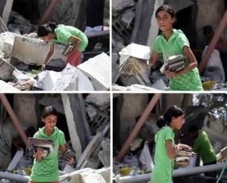 Gaza la bambina che salva i libri