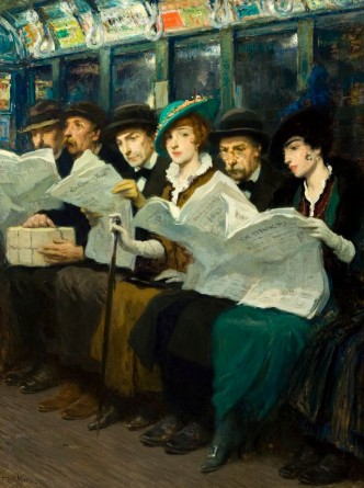 Evening news 1914 di Francis Luis Mora 1874- 1940