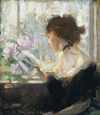 Bessie MacNicol Elizabeth reading circa 1897