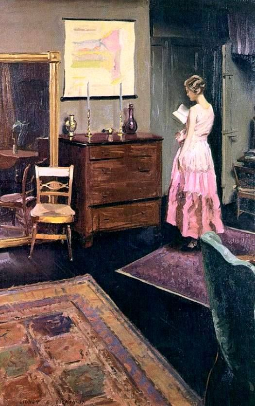 Sidney Edward Dickinson Mary in the studio