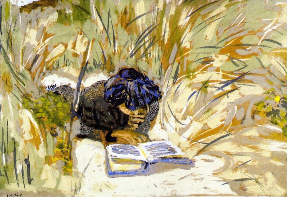 Edouard Vuillard woman reading in the reeds