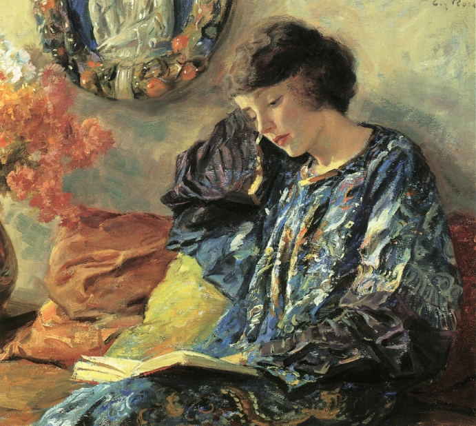 Guy Rose Marguerite reading